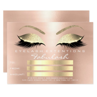 Pink rose gold Blush Skinny Eyes lax poison Card