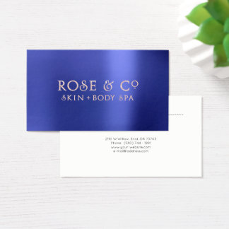 Pink Rose Gold Emerald Blue Appointment Logo 2 Business Card