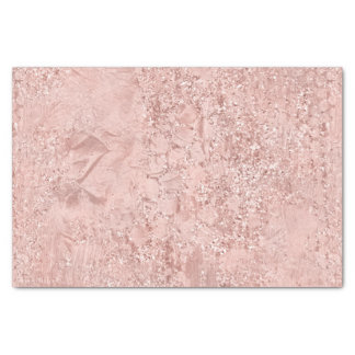 Pink Rose Gold Glass Glitter Delicate White Girly Tissue Paper