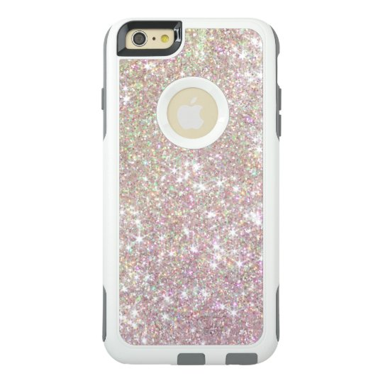 reputable site de503 b0715 Pink Rose Gold Glitter Otterbox iPhone 6 Case