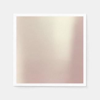 Pink Rose Gold Metallic Minimalism Pure Wedding Paper Napkins