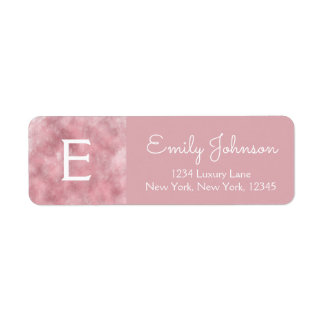 Pink Rose Gold Monogram Watercolor