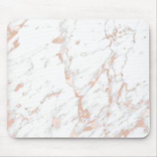 Pink Rose Gold Powder Blush White Gray Marble Mouse Pad