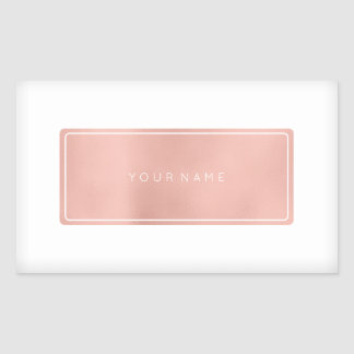 Pink Rose Gold Powder Metallic Rectangular Silver