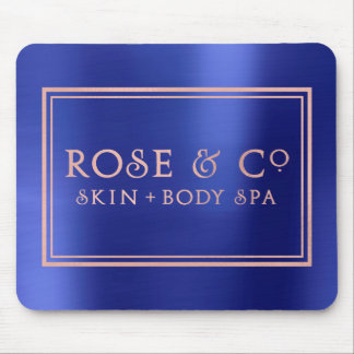 Pink Rose Gold Sapphire Blue Minimal Decor Mouse Pad