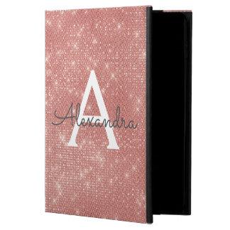Pink Rose Gold Sparkle Modern Monogram Name Powis iPad Air 2 Case