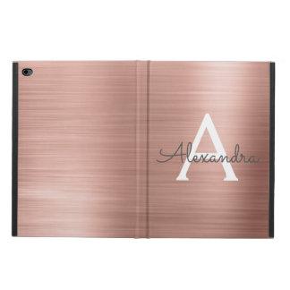 Pink Rose Gold Stainless Steel Monogram Powis iPad Air 2 Case
