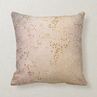 Pink Rose Gold Vip Silver Cyber Numeric IT- DESIGN Throw Pillow