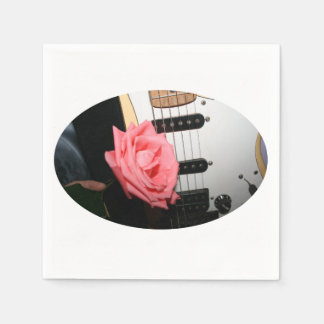 Pink rose guitar body strings pickguard music disposable napkin