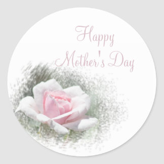 Pink Rose Happy Mother's Day Sticker Set