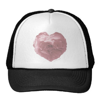 Pink Rose Heart Hat