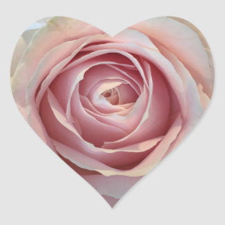Pink Rose Heart Stickers