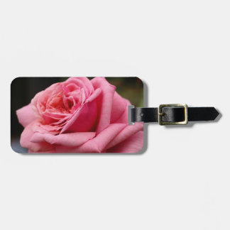 Pink Rose I Pretty Floral Photography Luggage Tag