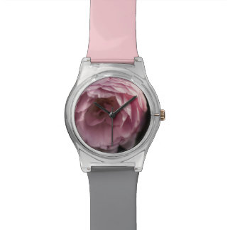 Pink rose in the darkness watch