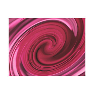 Pink Rose Inspired Abstract Design Canvas Print