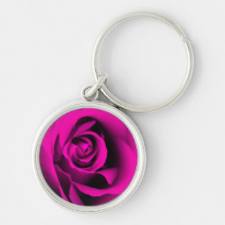 Pink Rose Key Chain