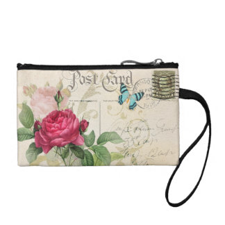Pink Rose Key Coin Clutch Coin Wallets