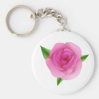 Pink rose key chains