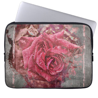 Pink Rose Laptop Sleeve