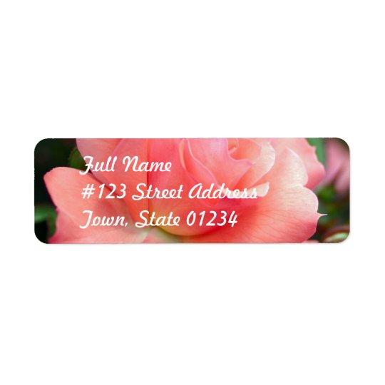 Pink Rose Mailing Label