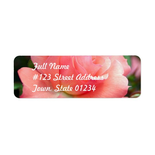 Pink Rose Mailing Label Return Address Label