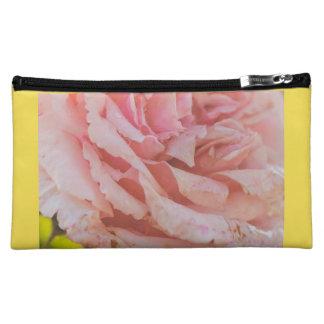Pink rose makeup bag