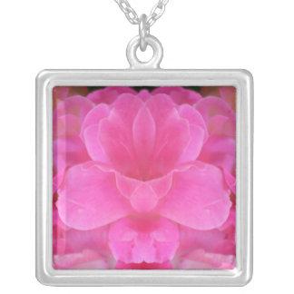 Pink Rose Mandala Necklace