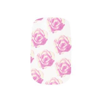 pink rose nail art decal