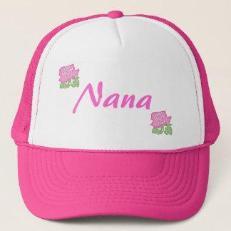 Pink Rose Nana Hat-Customizable Trucker Hat