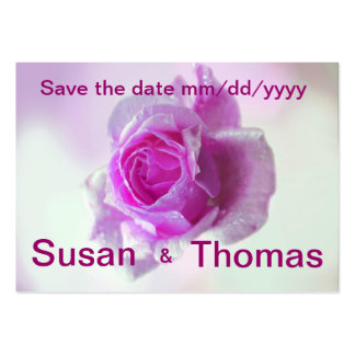Pink Rose of love - Save the date Business Card Templates