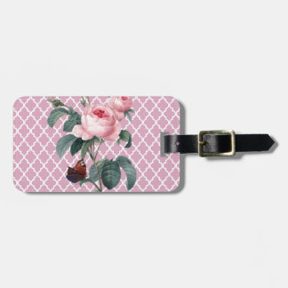 Pink Rose Orient Luggage Tag