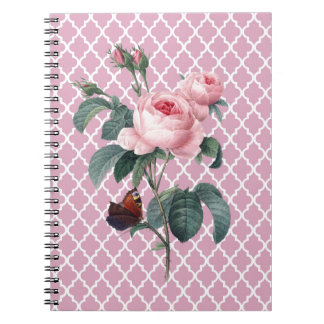 Pink Rose Orient Spiral Notebook