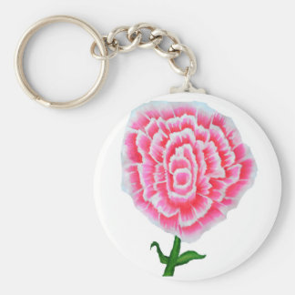 Pink Rose Painting Key Chain