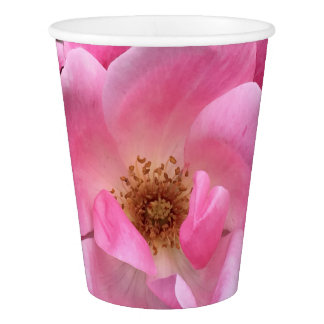 Pink Rose Paper Cup