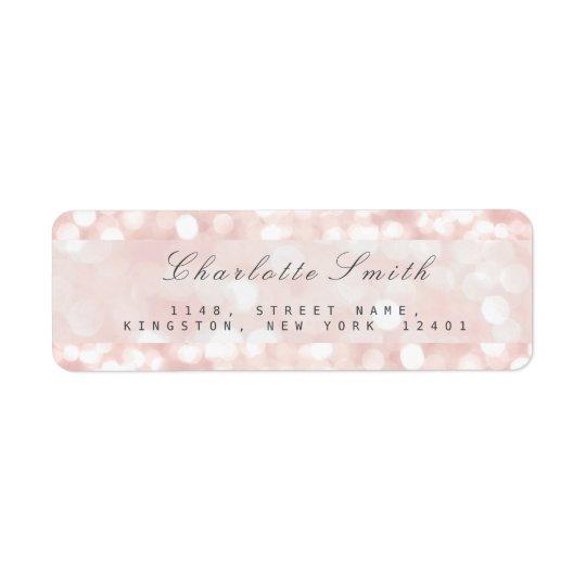 Pink Rose Pastel Sparkly Return Address Labels