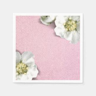 Pink Rose Pastel White  Jasmine Glitter Sequin Napkin