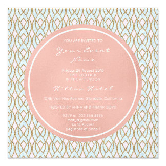 Pink Rose Pearly Versailles Baroque Antoinette Card