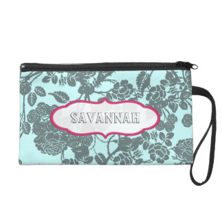 Pink Rose personalized Clutch bridesmaid gift