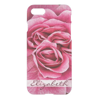 Pink Rose Personalized iPhone 8/7 Case