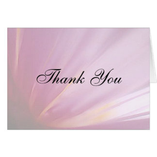 Pink Rose Petal Thank You Card