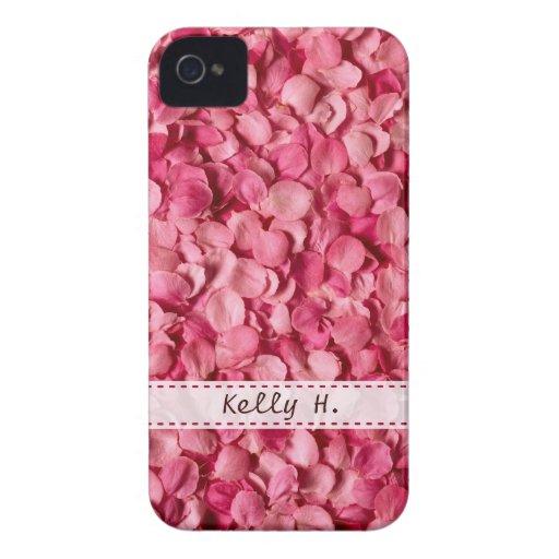 Pink Rose Petals Blackberry Cases