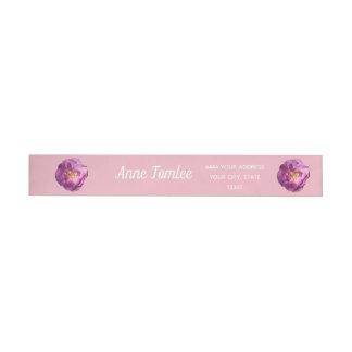Pink Rose Photo  Address Labels
