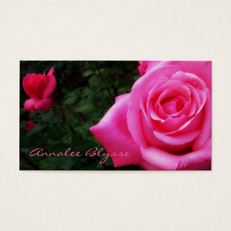 Pink Rose Photo Business Card