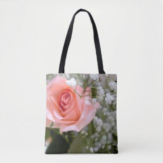 Pink Rose Photo Tote Bag