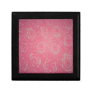 Pink Rose Print Gift Box