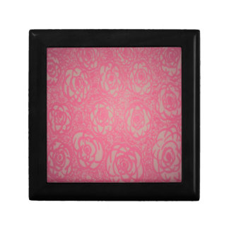 Pink Rose Print Jewelry Boxes
