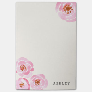 Pink Rose Print Post-It Post-it Notes