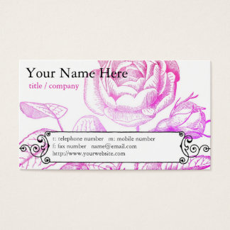Pink Rose Profile Card
