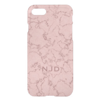 Pink Rose Quartz Marble Personalized iPhone 7 iPhone 8/7 Case