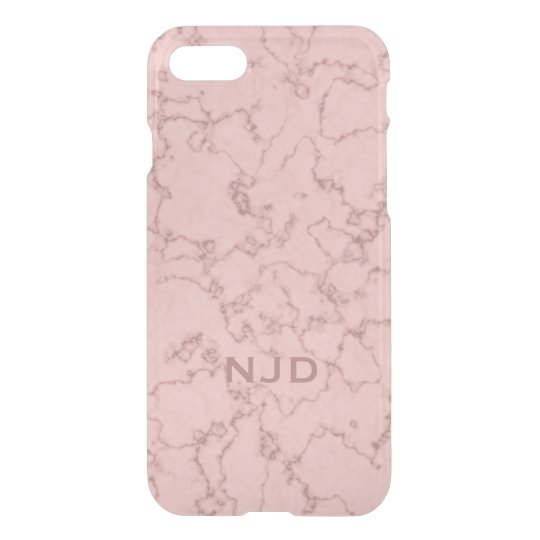 Pink Rose Quartz Marble Personalized iPhone 7 iPhone 8/7 Case